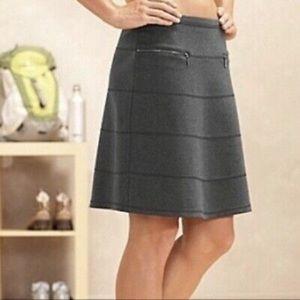 Athleta 'Strata' Ponte Zipper A-Line Skirt